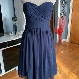 Bill Levkoff Strapless Bridesmaid Dress